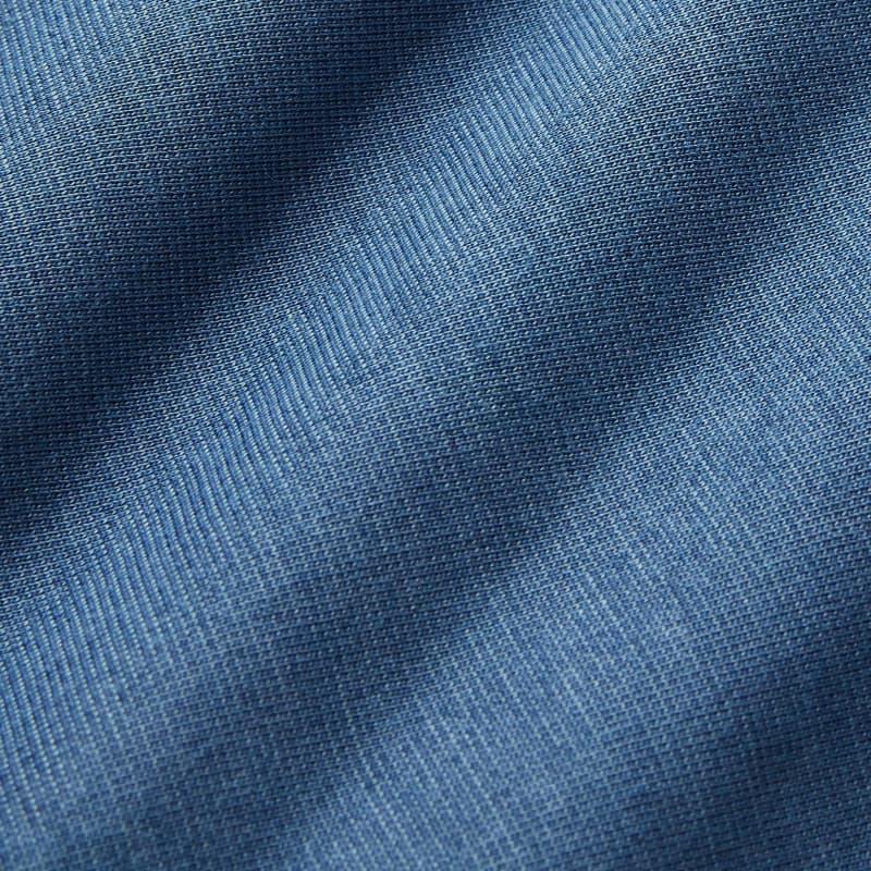 Wilson Long Sleeve Polo - Blue Solid, fabric swatch closeup
