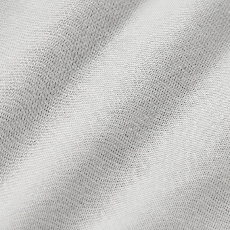 Fairway Crewneck - Light Gray Heather, fabric swatch closeup