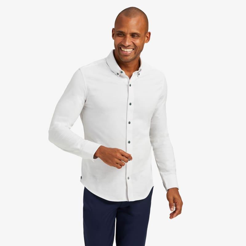 Wilson Dress Shirt - Light Gray Heather, lifestyle/model