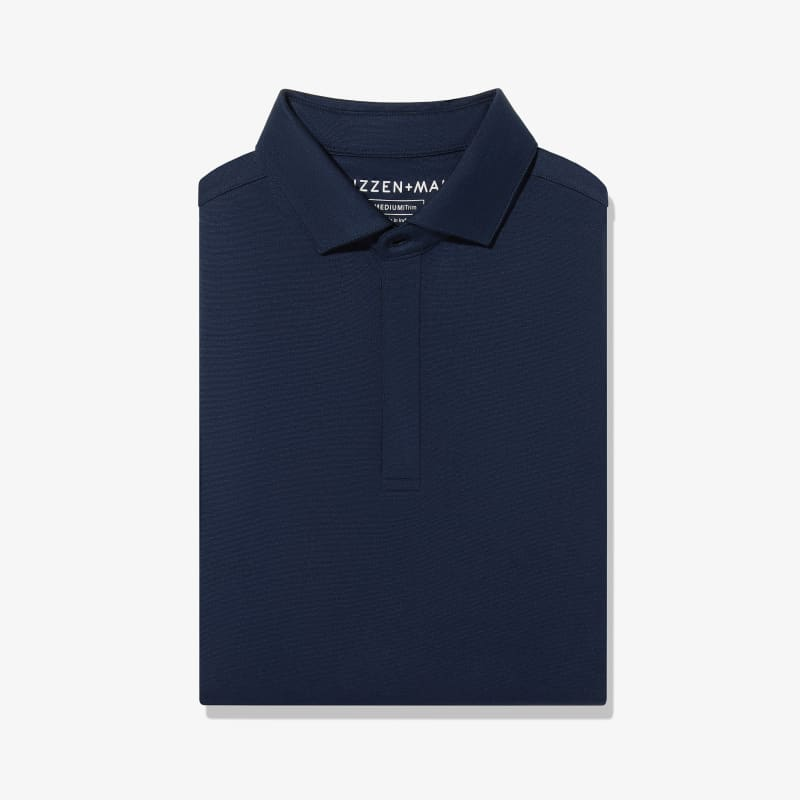 Wilson Long Sleeve Polo - Navy Solid, featured product shot