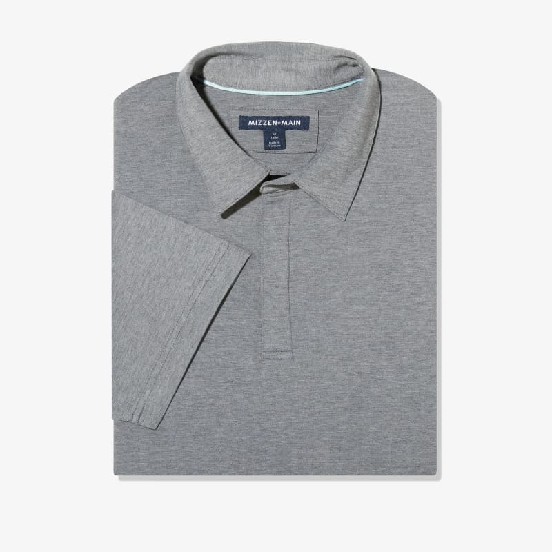 <em class=drirelease-title>drirelease</em><sup class=molecular>®</sup> Polo - Steel Gray Heather, featured product shot