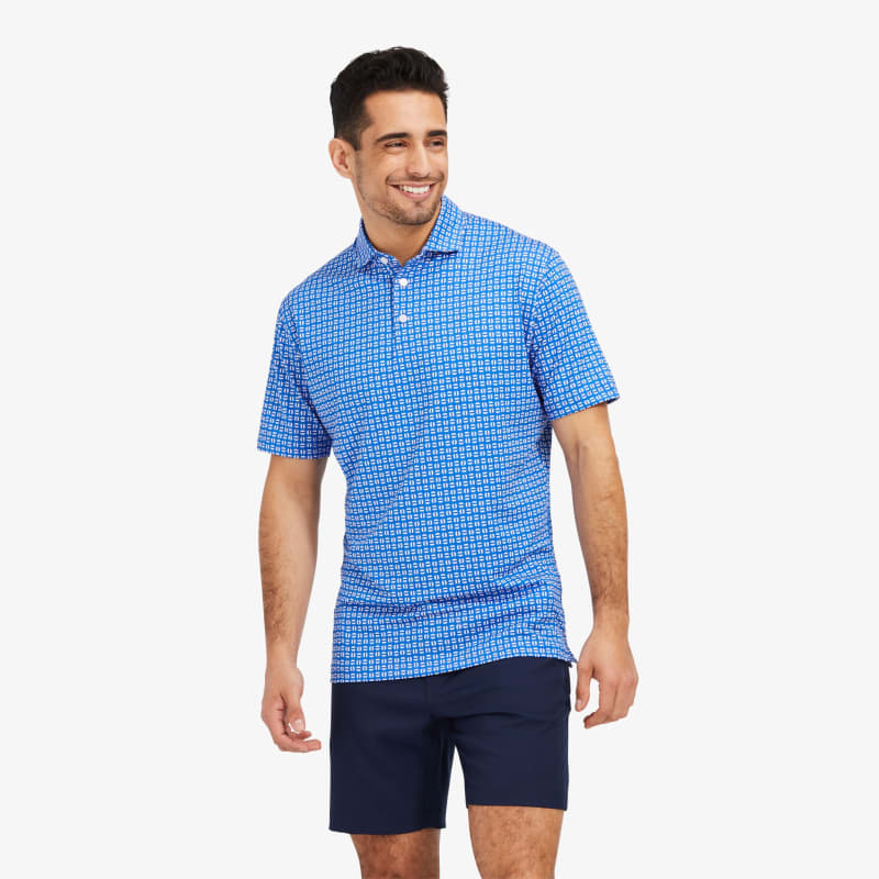 Phil Mickelson Polo - Pacific Sunset GeoPrint, lifestyle/model