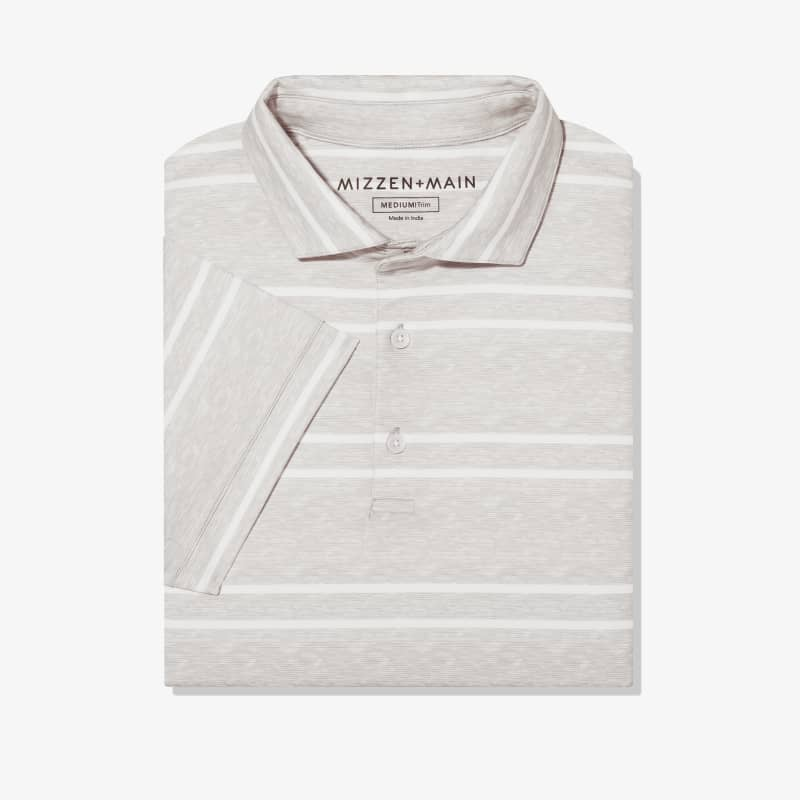 Clubhouse Polo - Gray Double Stripe, featured product shot
