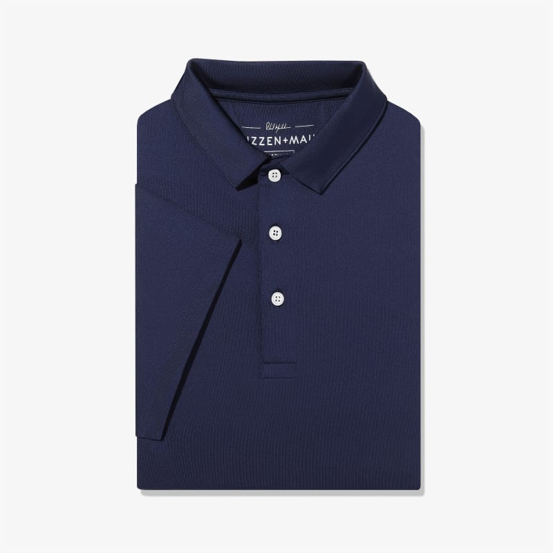 Phil Mickelson Polo - Navy Solid, featured product shot