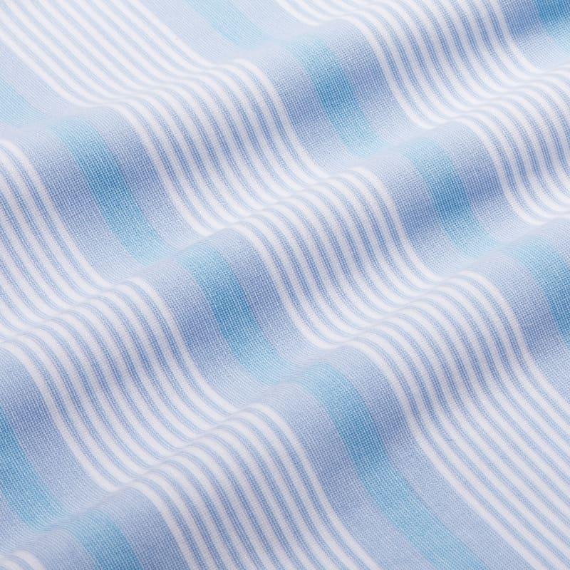 Wilson Polo - Blue Multi Stripe, fabric swatch closeup
