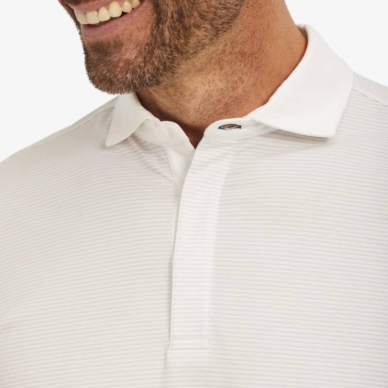 Wilson Long Sleeve Polo - Gray Stripe, lifestyle/model