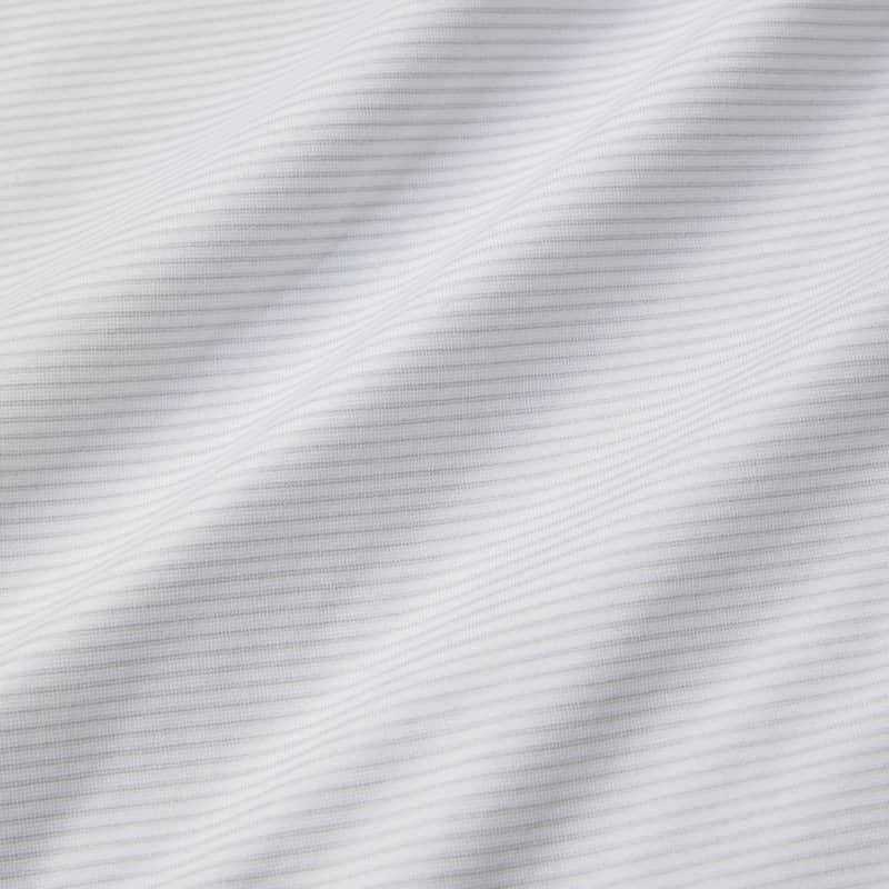 Wilson Long Sleeve Polo - Gray Stripe, fabric swatch closeup
