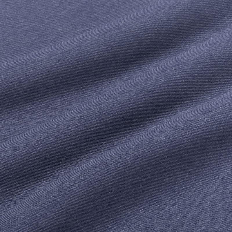 <em class=drirelease-title>drirelease</em><sup class=molecular>®</sup> Long Sleeve Polo - Navy Heather, fabric swatch closeup