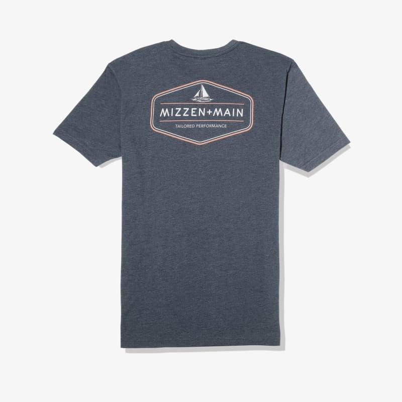 Soft Wash T-shirt - Navy Back Graphic, lifestyle/model