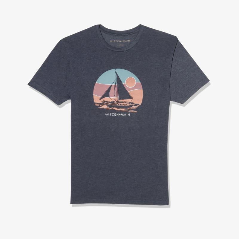 Soft Wash T-shirt - Navy Sailboat, featured product shot