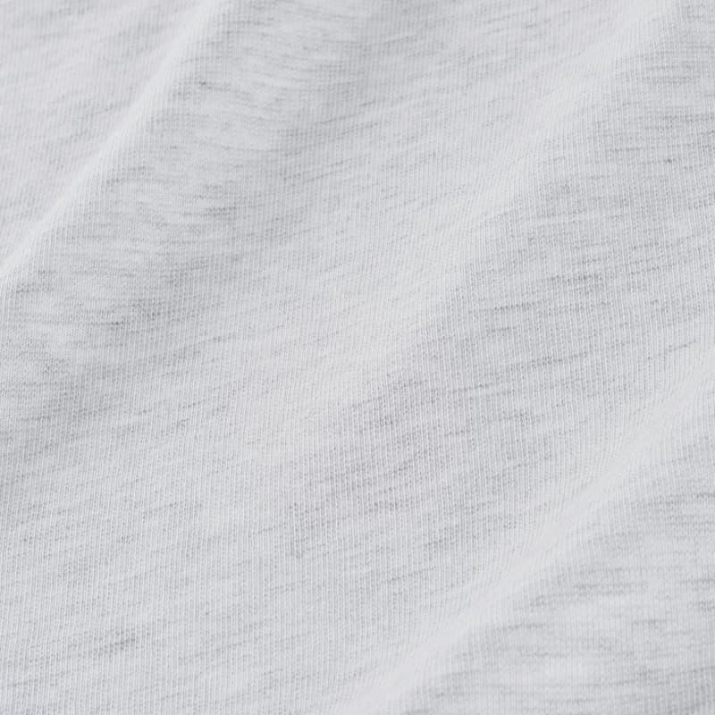 Fairway Bomber - Light Gray Heather, fabric swatch closeup