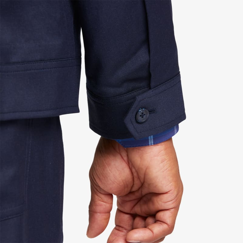Grant Jacket - Navy Solid, lifestyle/model