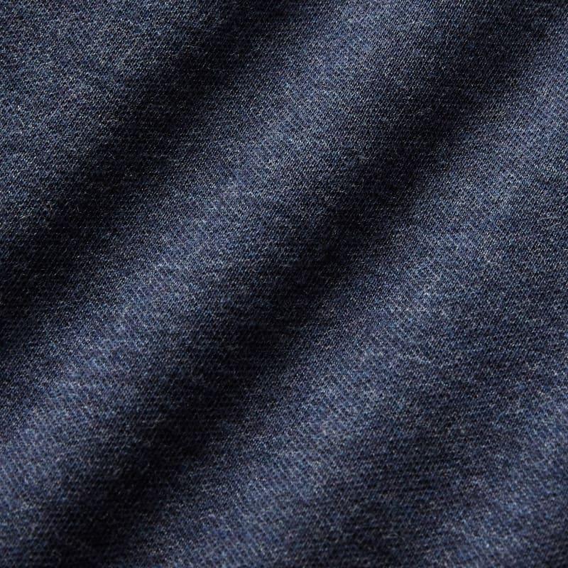 Fairway Crewneck - Navy Heather, fabric swatch closeup