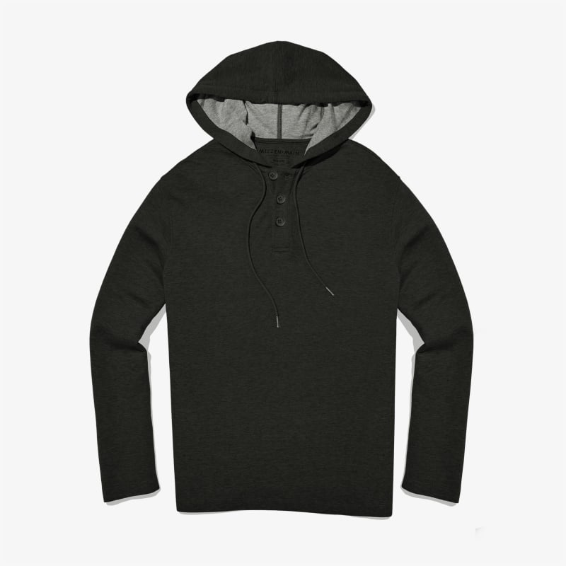 Fairway Hooded Henley - Charcoal Heather, featured product shot