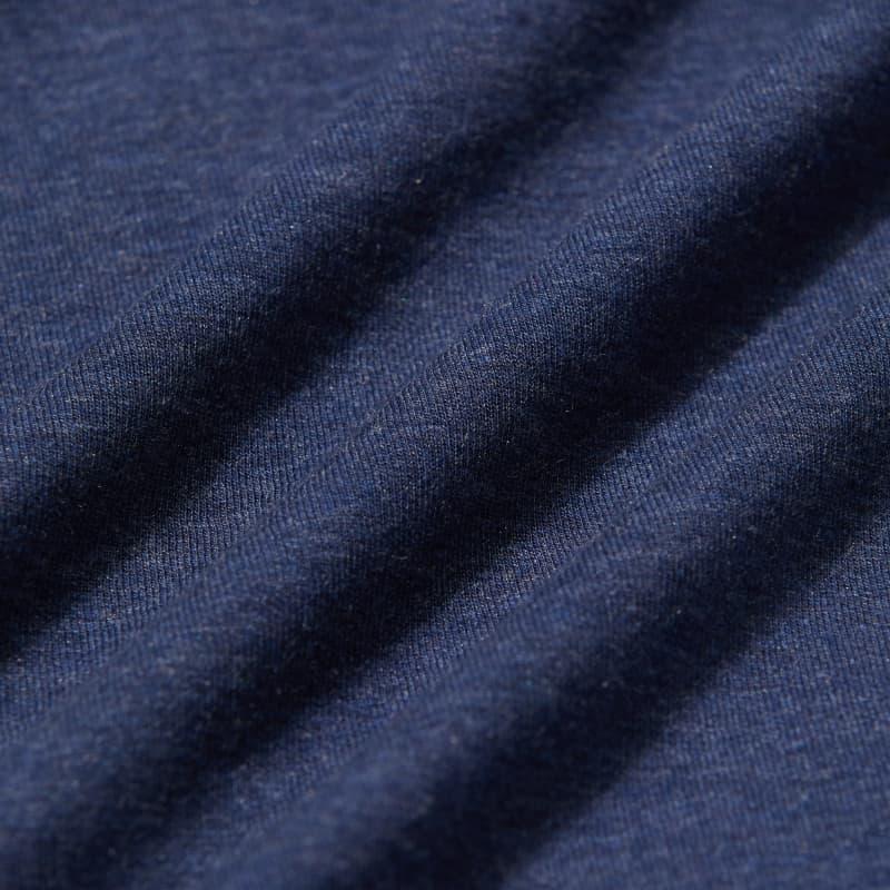 Fairway Hooded Henley - Navy Heather, fabric swatch closeup