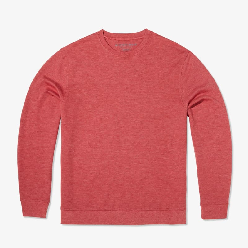 Fairway Crewneck - Berry Red Heather, featured product shot