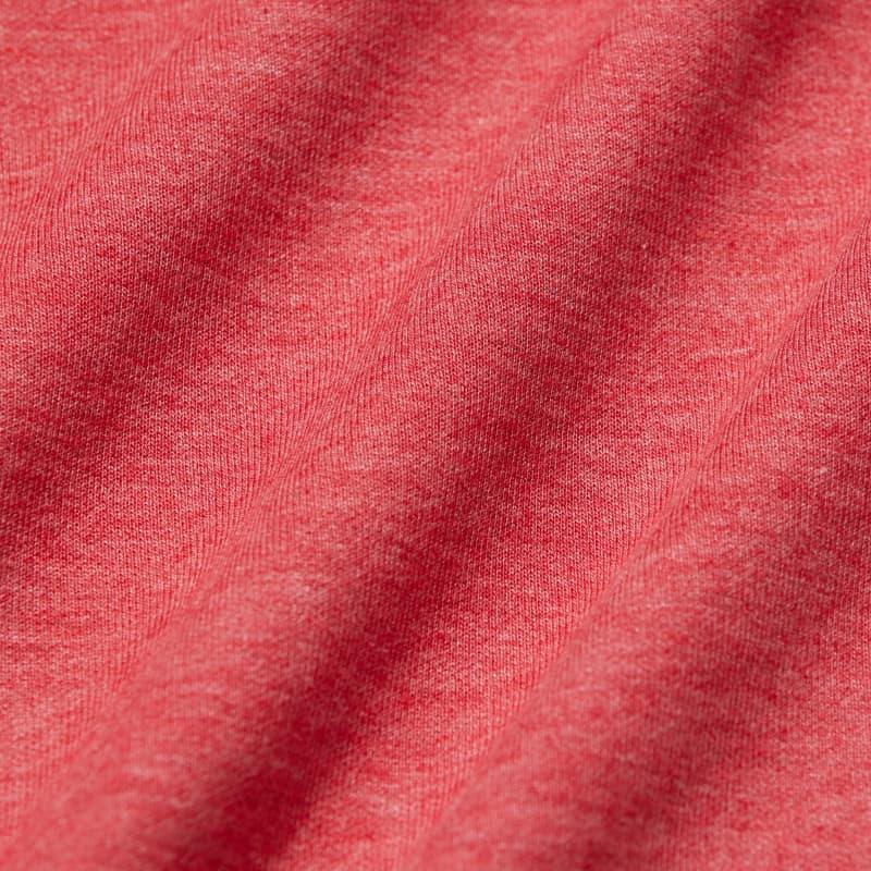 Fairway Crewneck - Berry Red Heather, fabric swatch closeup