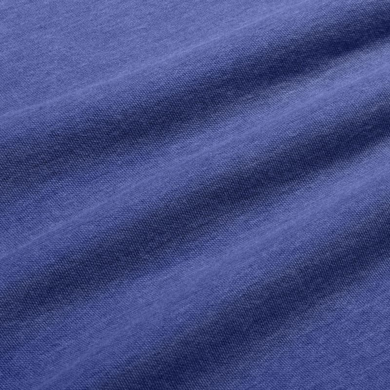 Fairway Crewneck - Light Blue Heather, fabric swatch closeup