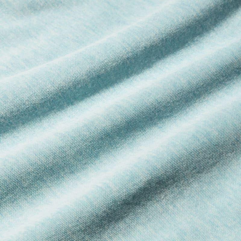 Fairway Crewneck - Angel Blue Heather, fabric swatch closeup
