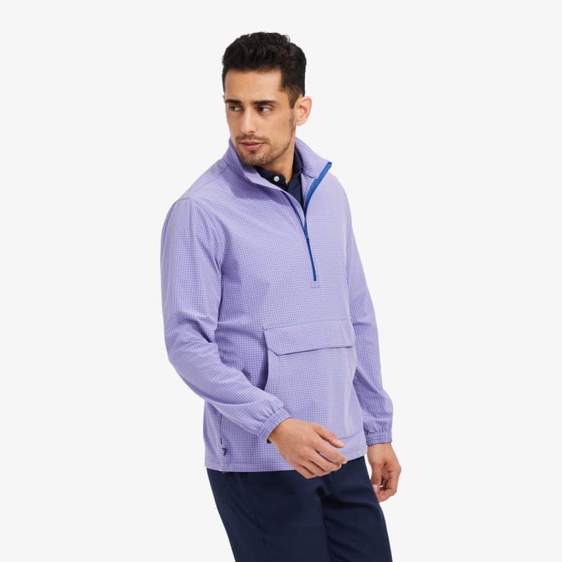 Leeward Pullover - Purple Blue Gingham, lifestyle/model