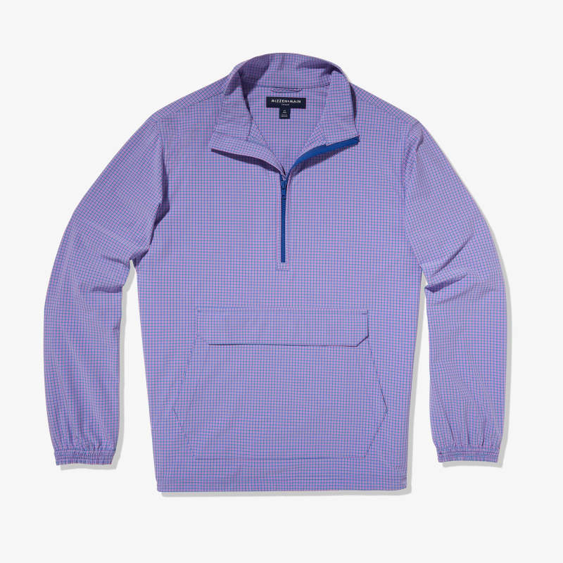 Leeward Pullover - Purple Blue Gingham, featured product shot
