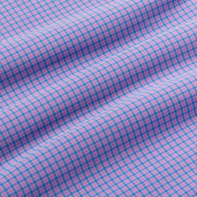 Leeward Pullover - Purple Blue Gingham, fabric swatch closeup