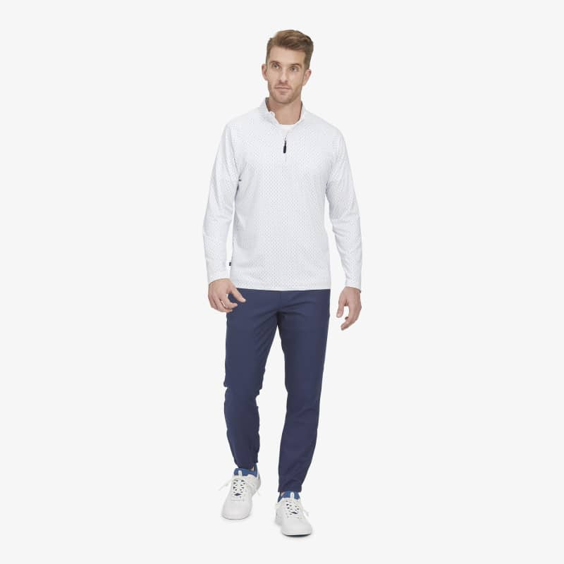 Clubhouse Pullover - Multi Blue LinePrint, lifestyle/model