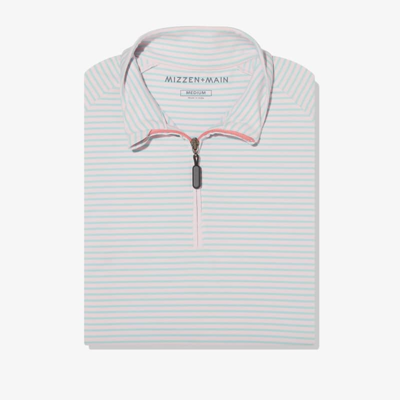 Clubhouse Pullover - Pink And Sea GreenStripe, featured product shot