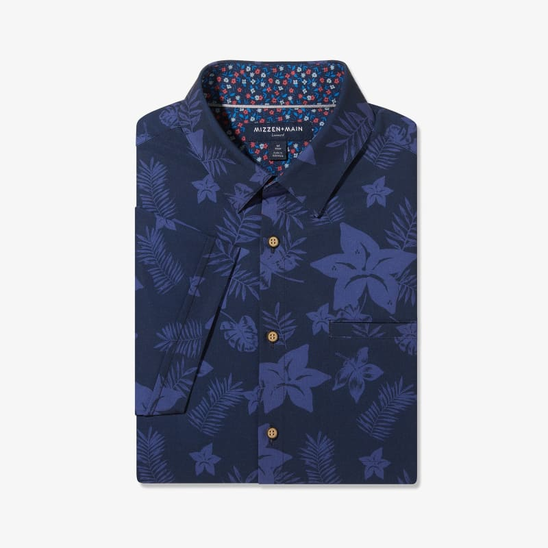 Leeward Vacation Shirt - Blue Large FloralPrint, featured product shot