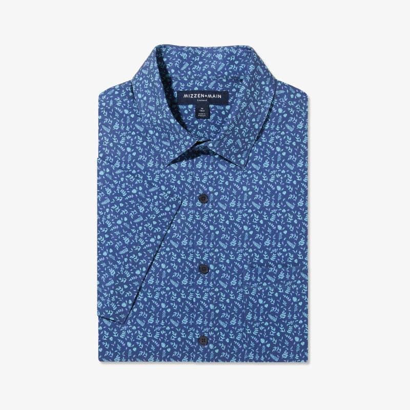 Leeward Short Sleeve - Navy Aqua FloralPrint, featured product shot