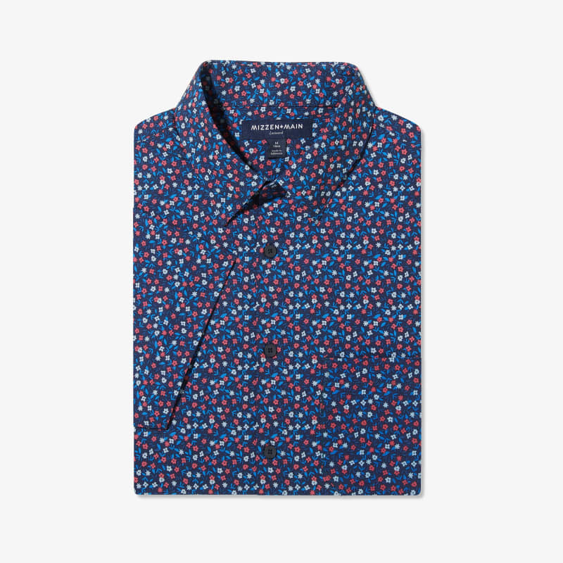Leeward Short Sleeve - Red And BlueFloral, featured product shot