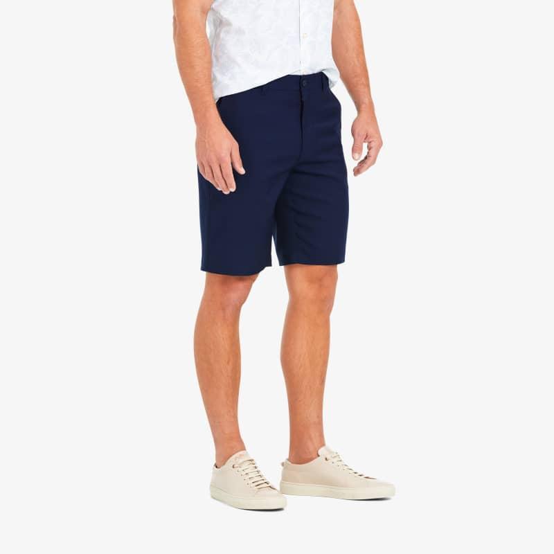 Baron Shorts - Navy Solid, lifestyle/model