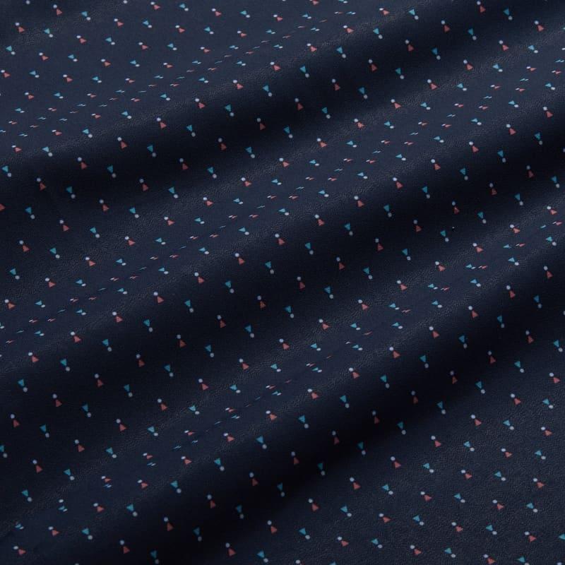 Lightweight Leeward Dress Shirt - Navy And Pink GeoPrint, fabric swatch closeup