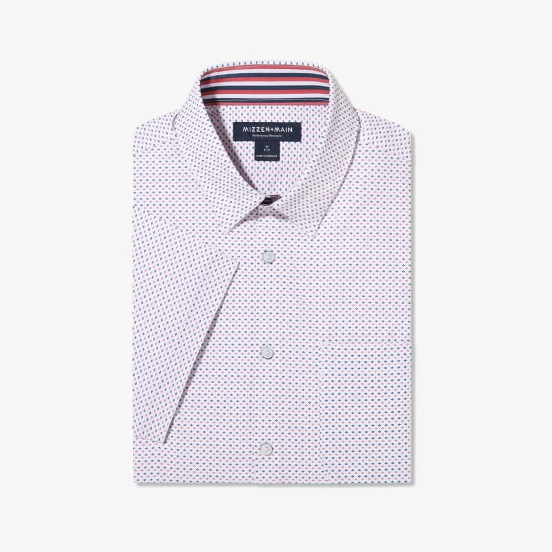 Leeward Short Sleeve - Red Navy Dot, featured product shot