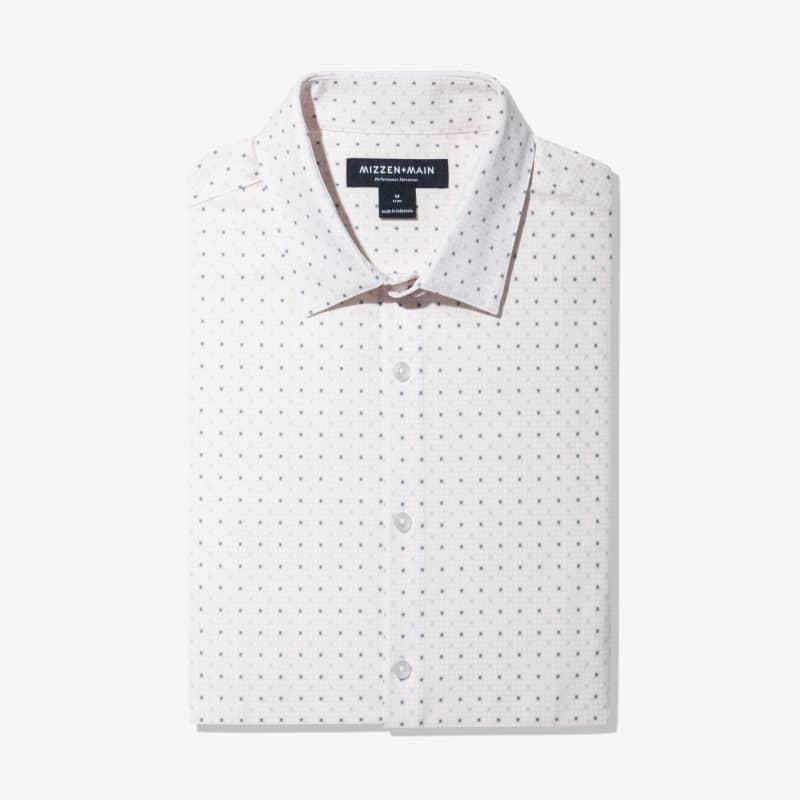 Leeward Dress Shirt - Pink Check WithPrint, featured product shot