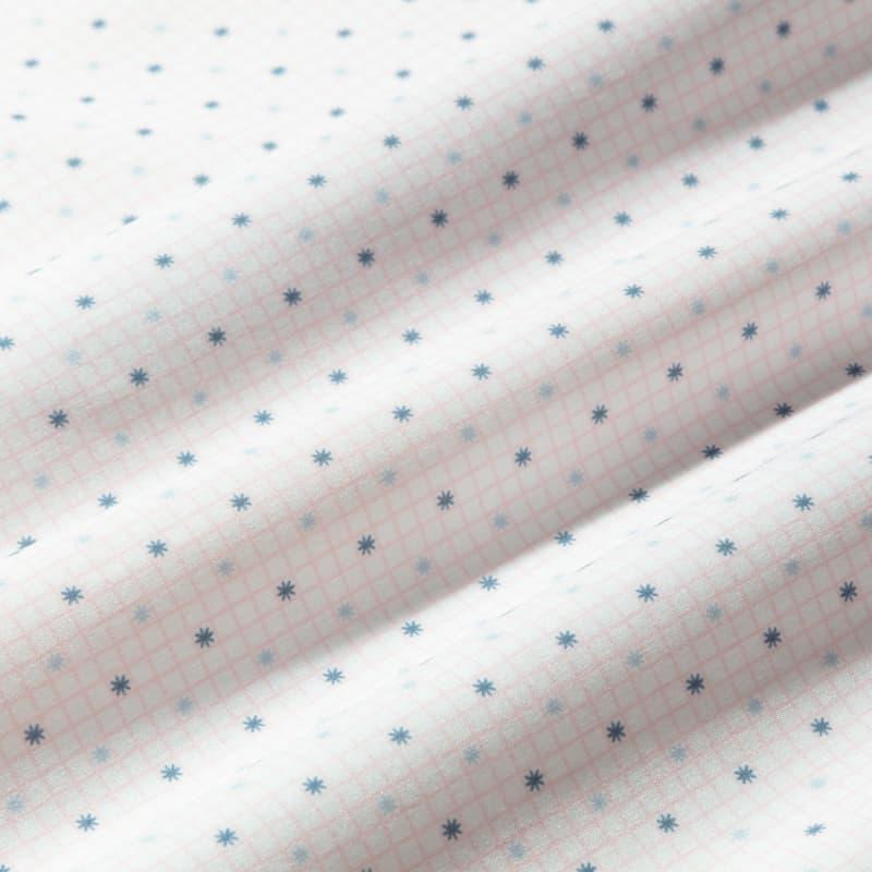 Leeward Dress Shirt - Pink Check WithPrint, fabric swatch closeup