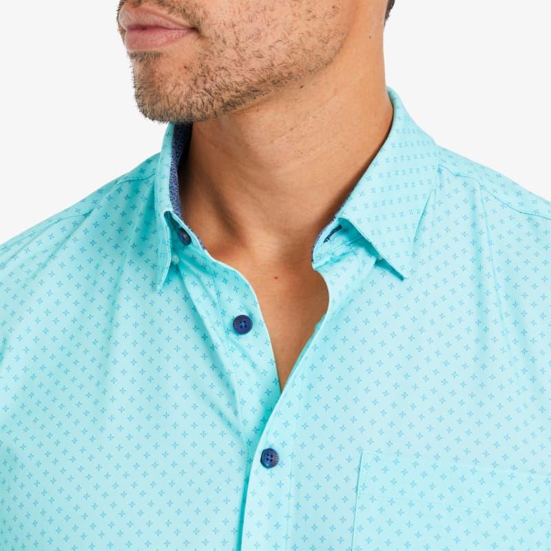 Leeward Short Sleeve - Sea Blue StarPrint, lifestyle/model