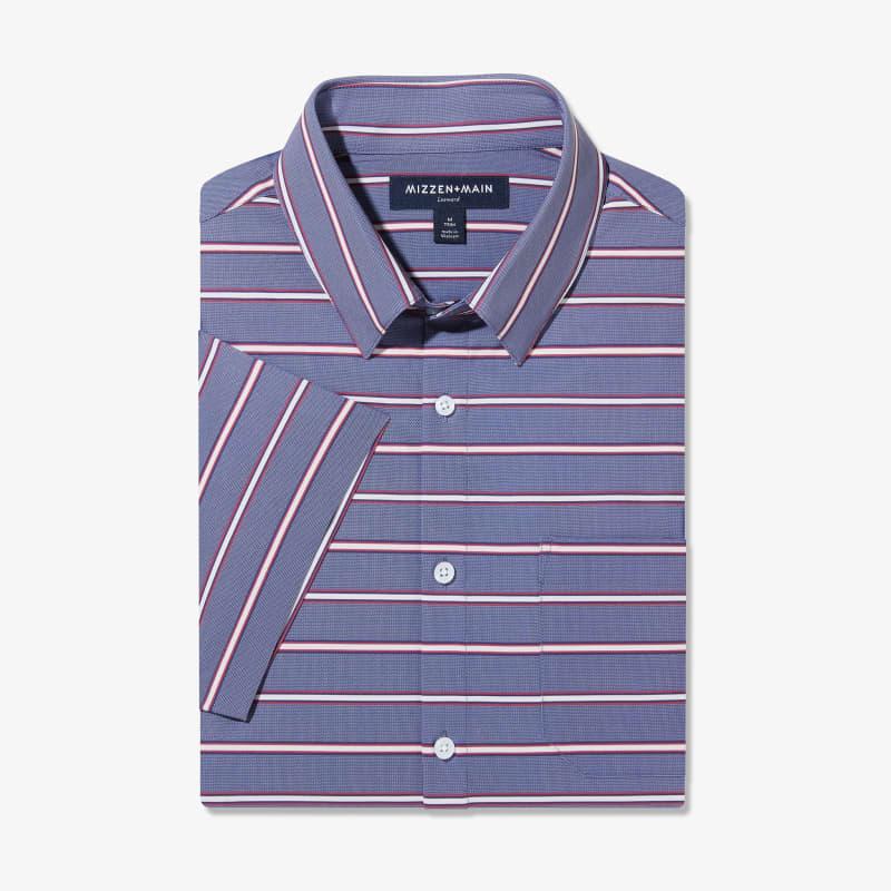 Leeward Short Sleeve - Chambray Horizontal StripePrint, featured product shot