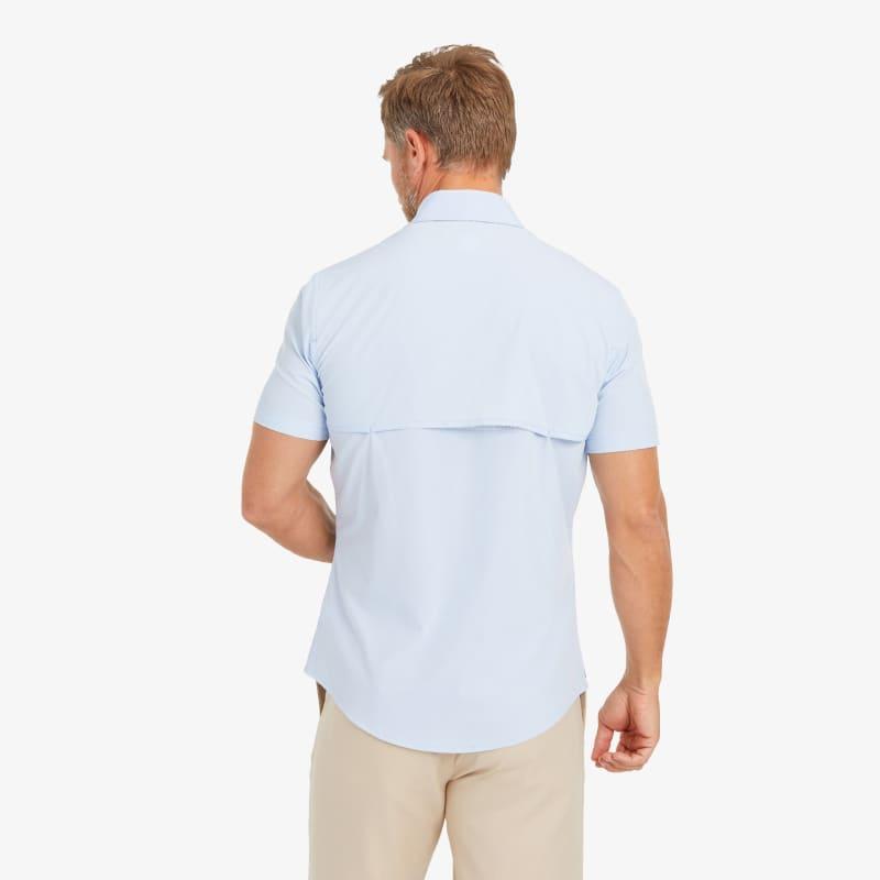 Leeward Outdoor Shirt - Light Blue Solid, lifestyle/model