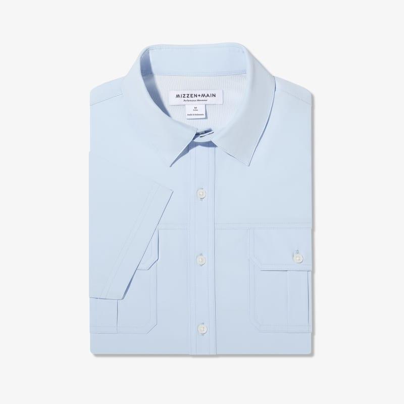 Leeward Outdoor Shirt - Light Blue Solid, featured product shot
