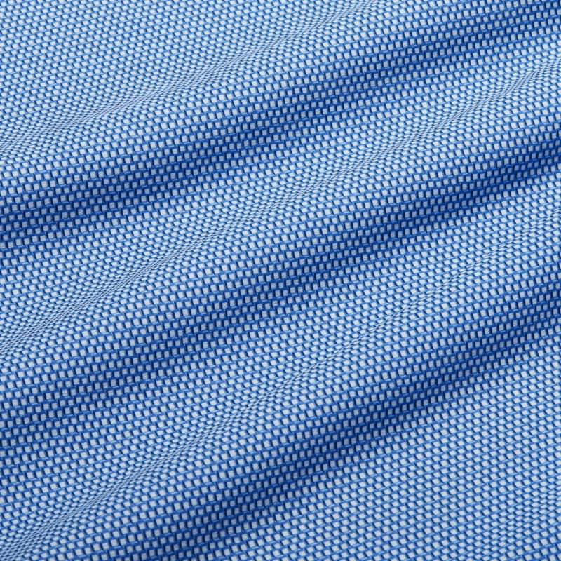 Lightweight Leeward Dress Shirt - Blue Navy Mini SquarePrint, fabric swatch closeup