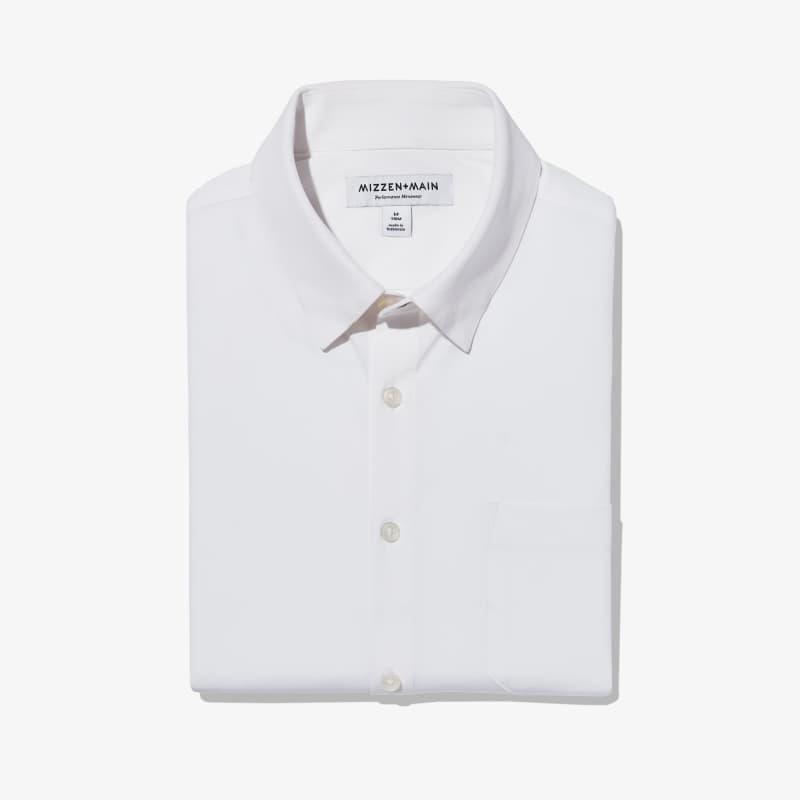 Leeward No Tuck Dress Shirt - White Solid, featured product shot