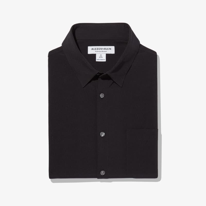 Leeward No Tuck Dress Shirt - Black Solid, featured product shot