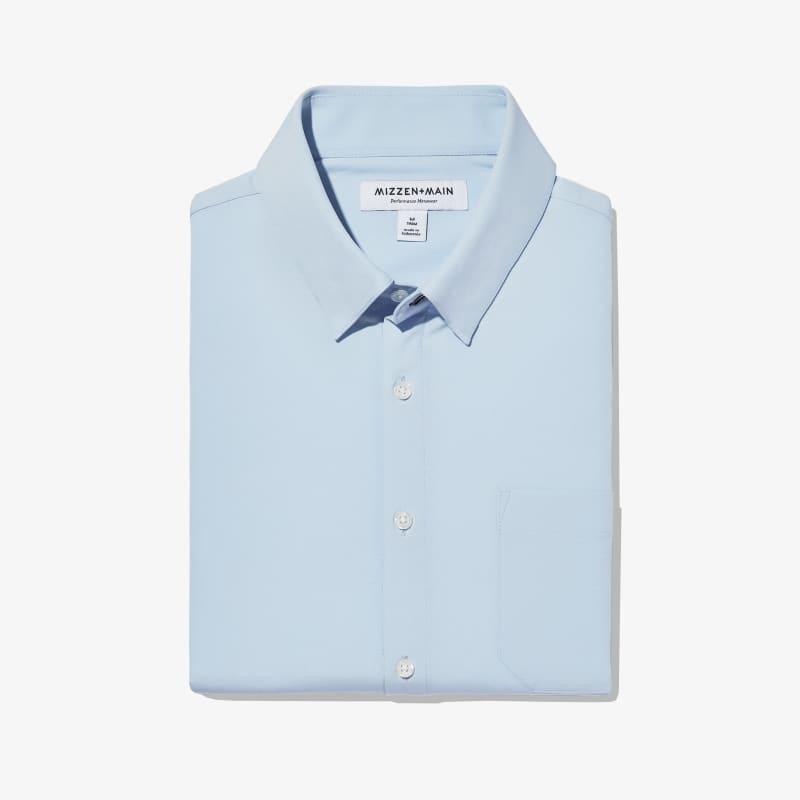 Leeward Casual Dress Shirt - Light Blue Solid, featured product shot