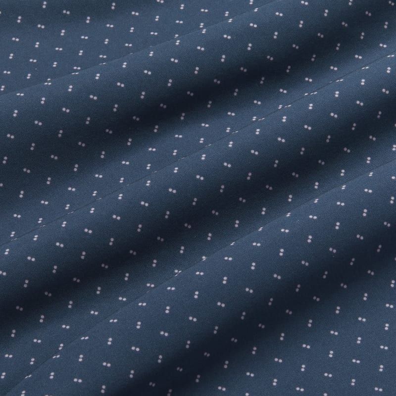 Leeward Antimicrobial Dress Shirt - Navy Pink GeoPrint, fabric swatch closeup