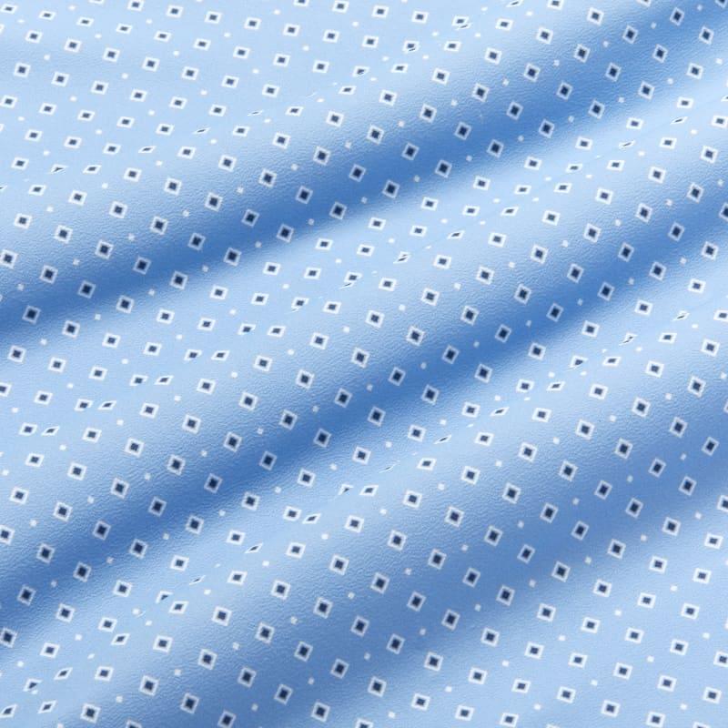 Lightweight Leeward Dress Shirt - Blue Diamond GeoPrint, fabric swatch closeup