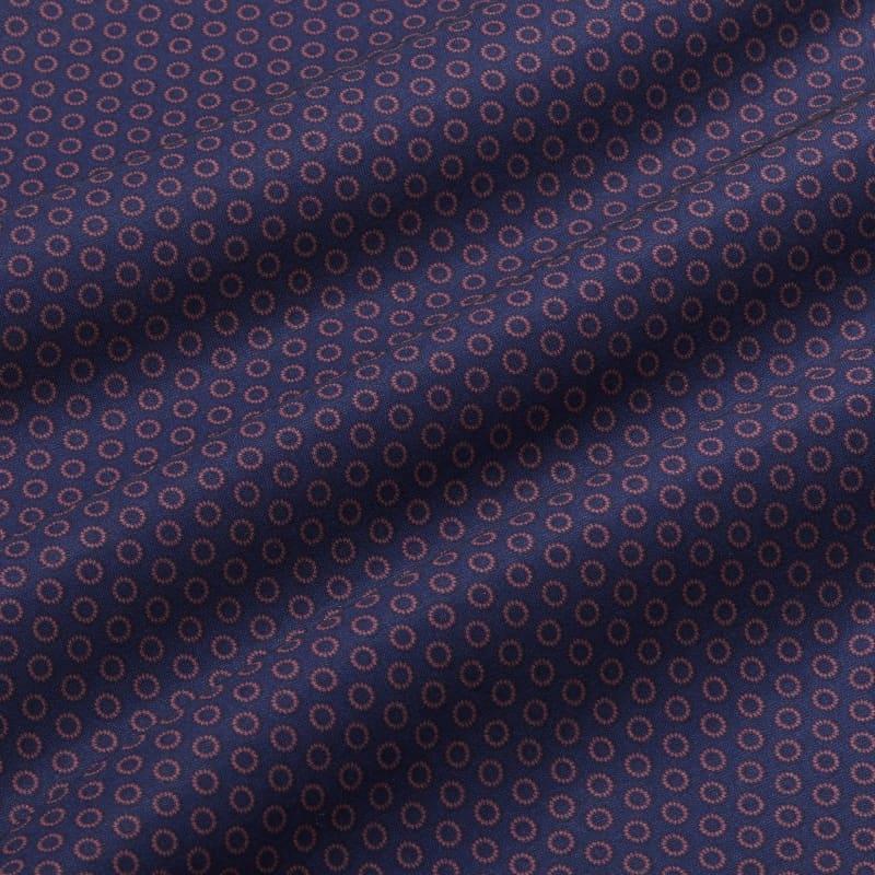 Leeward Antimicrobial Dress Shirt - Burgundy And Navy GeoPrint, fabric swatch closeup