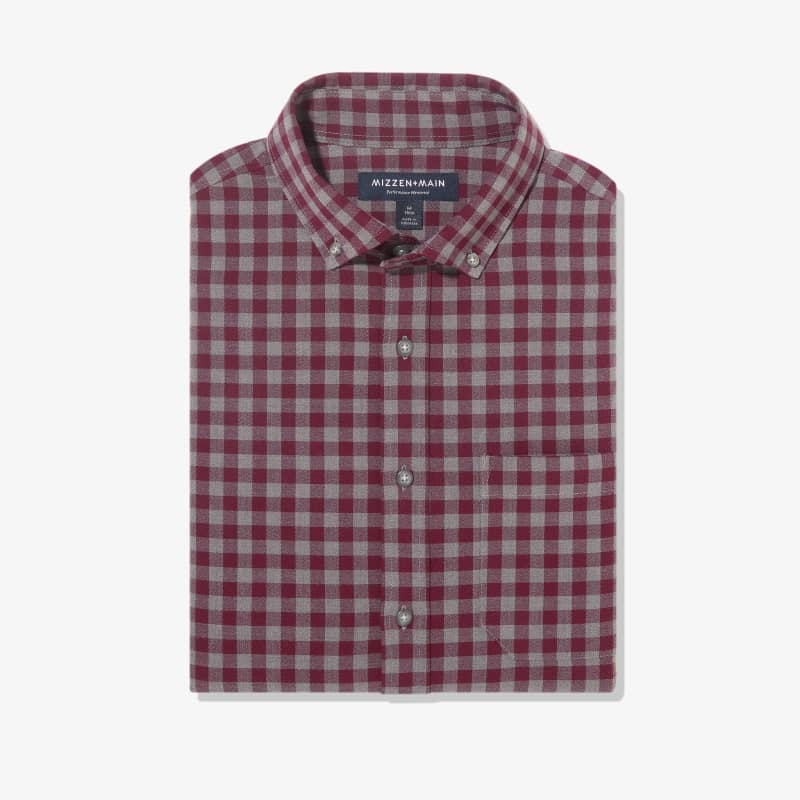 City Flannel - Burgundy Check, featured product shot