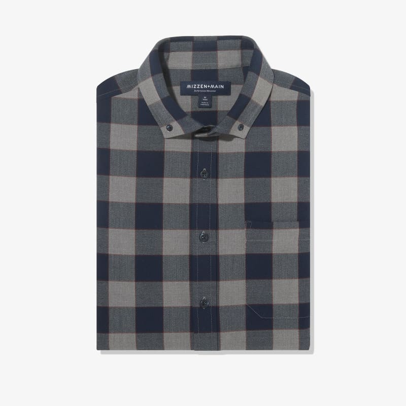 City Flannel - Navy Large Check, featured product shot