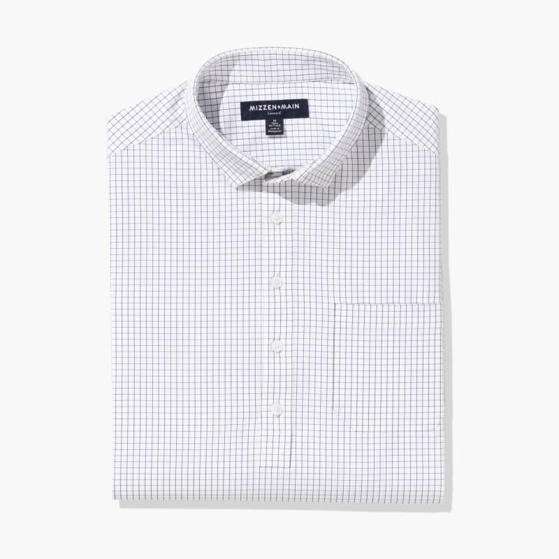Leeward Popover - Navy Grid, featured product shot